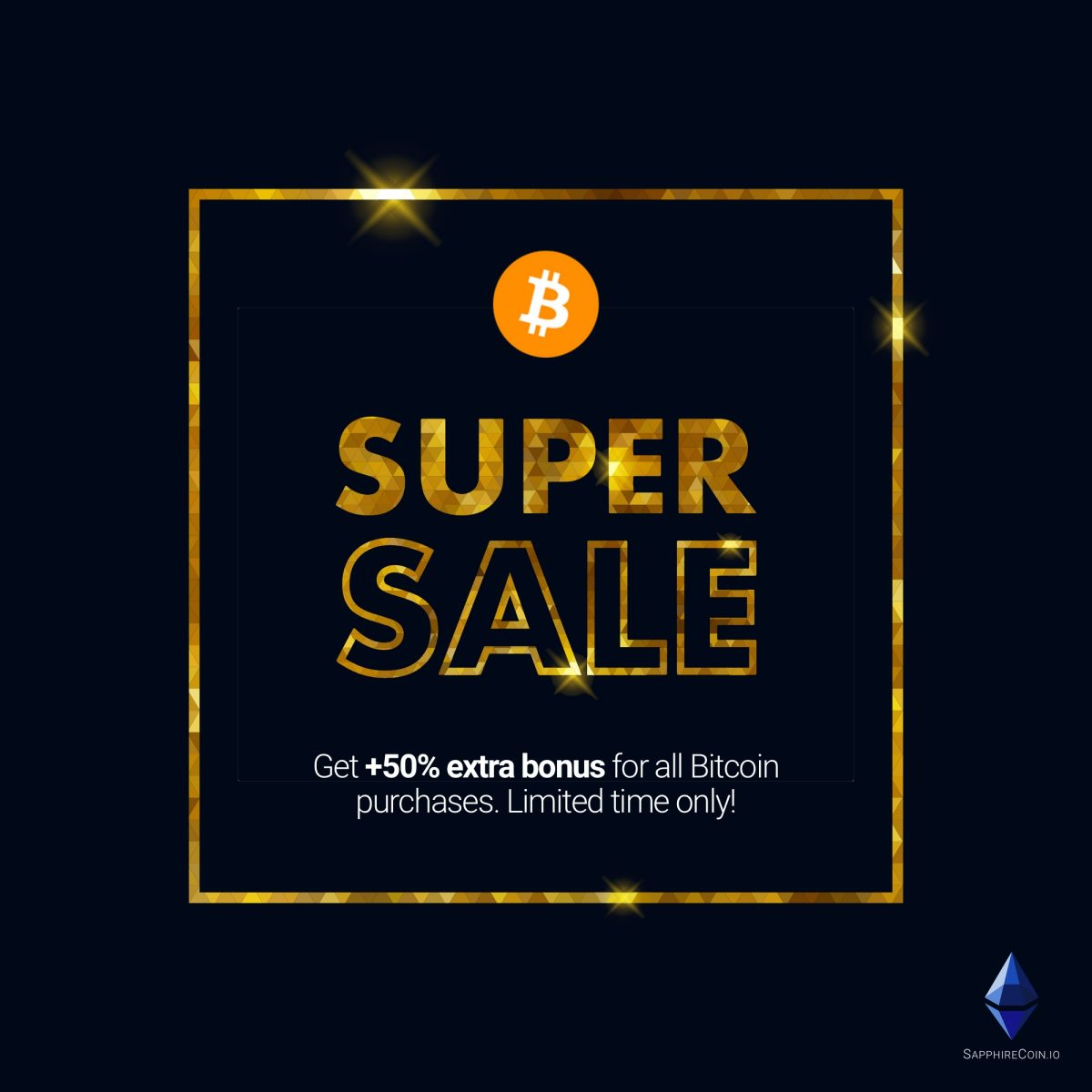 Get +50% for Bitcoin purchases